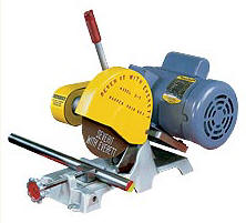 "Everett's 8"" dry abrasive cutoff saw is ideal for tool rooms."