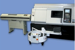 Do you bar feed? Rota-Rack Parts Accumulator can be used with any CNC lathe equipped with a parts catcher.