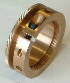 Adjustable bronze stop for burring spindle - Another fine product for Davenports available from ISMS.