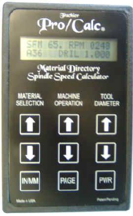 Calculate proper spindle speed with the Pro/Calc® Material Directory & Spindle Speed Calculator available from ISMS