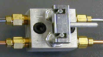 Doutle oil shut-off for Davenports - Threading attachment on/off lube valve from ISMS